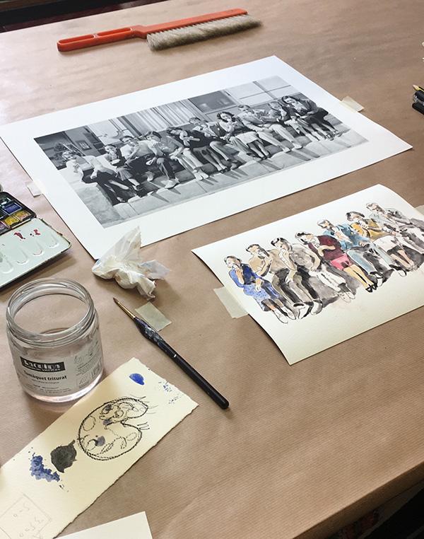 Proceso de creación de la ilustración de La Jijonenca