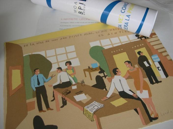 Regalo litografias para empresas